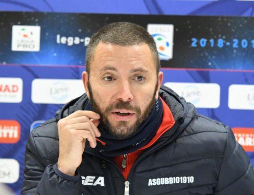 """Gubbio-Giana Erminio 1-1. Sandreani: """"È un pareggio che non ci accontenta. Abbiamo avuto tante occasioni"""""""