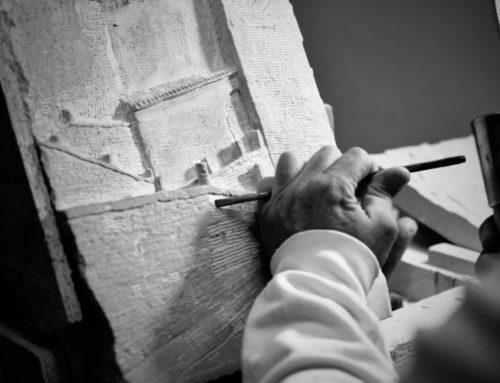 Le opere dello scalpellino Giuseppe Allegrucci esposte a Perugia al Comando Legione Carabinieri Umbria