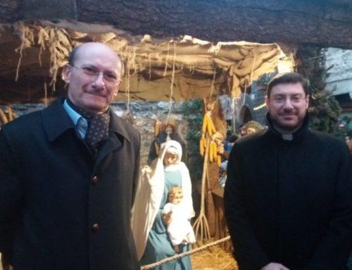 """A San Martino l'inaugurazione del Presepe. Il Vescovo: """"A Gubbio siamo innamorati del Natale"""""""
