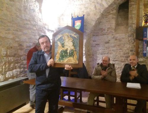 Famiglia dei Sangiorgiari. Presentato il Calendario ceraiolo 2019 e il bassorilievo della Madonna delle Grazie