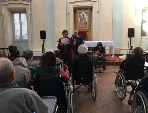 I volontari di Avida Onlus hanno incontrato gli anziani della Casa di Riposo Mosca. Musica e allegria