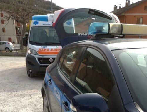 Incidente a Casamorcia tra un furgone e un motociclo. Un ragazzo eugubino 22enne in Ospedale a Branca