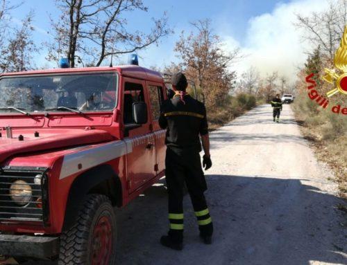 Intervento dei Vigili del Fuoco di Gubbio a Sioli per un incendio bosco su una superficie di circa 15/16 ettari