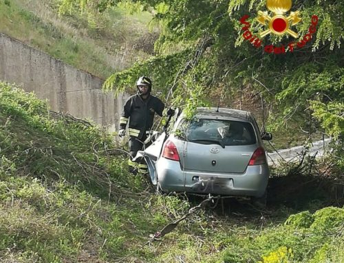 Perde il controllo dell'auto e finisce fuori strada lungo la SS 219 a San Marco. Una persona in Ospedale a Branca