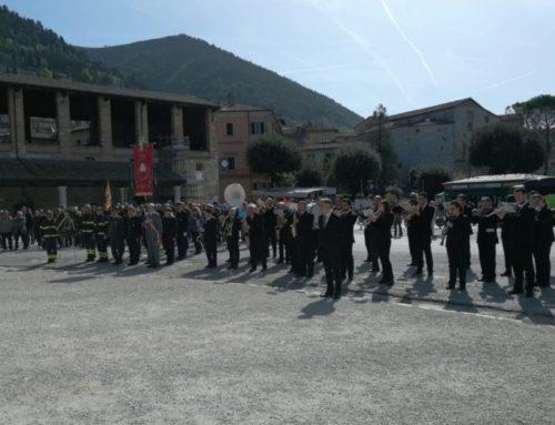 25 aprile 2019. Gubbio celebra la Liberazione, corone di fiori al Mausoleo e alle Steli ai caduti