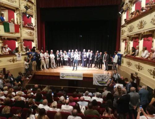"""Grande entusiasmo per Matteo Salvini a Gubbio. """"Se andiamo avanti con questa energia vinciamo"""""""