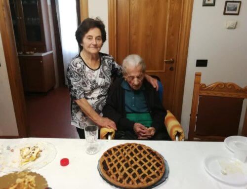 La signora Maria Saldi compie oggi 110 anni. E' nata a Cipolleto nel 1910 ed è bisnonna e trisnonna