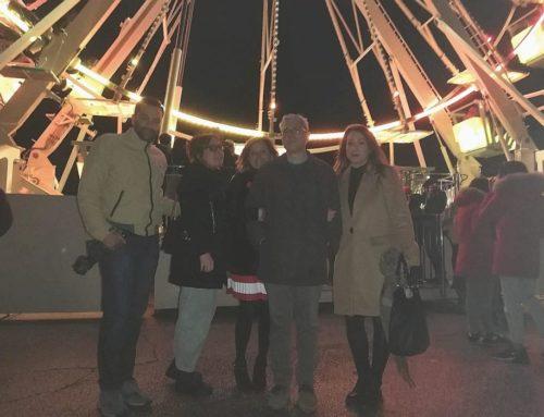 """Inaugurata la Ruota Panoramica. In Piazza Quaranta Martiri l'evento di Gubbio fa Centro """"Aspettando il Natale"""""""