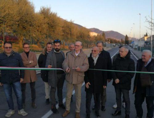 Inaugurata a Semonte Via del Melo riqualificata. Importante realtà produttiva nel territorio eugubino