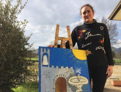"""Cecilia Passeri: """"L'arte è il nostro start. Sto realizzando opere che parlano di Gubbio e di speranza"""""""