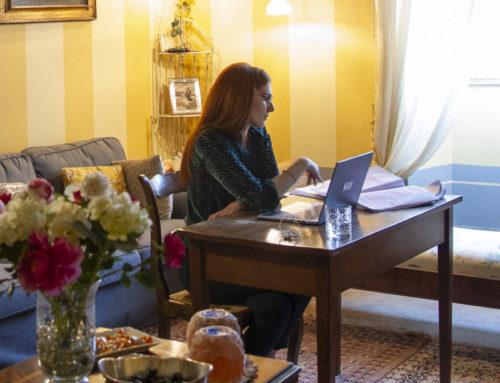L'eugubinaLivia Biraschi si è laureata attraverso la piattaforma online all'Università di Bologna