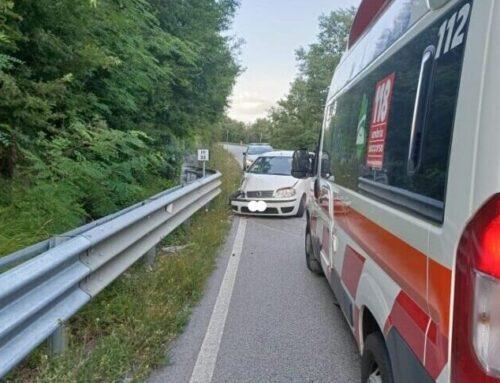 Incidente lungo la SS 219 nei pressi di Camporeggiano. Un eugubino di 23 anni in Ospedale a Umbertide
