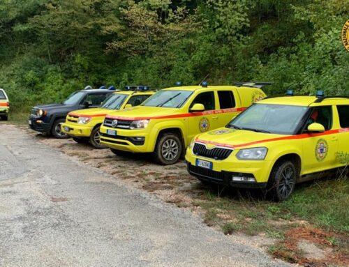Intervento del SASU in un'area impervia a Fossato di Vico dove ha perso la vita un biker di 62 anni