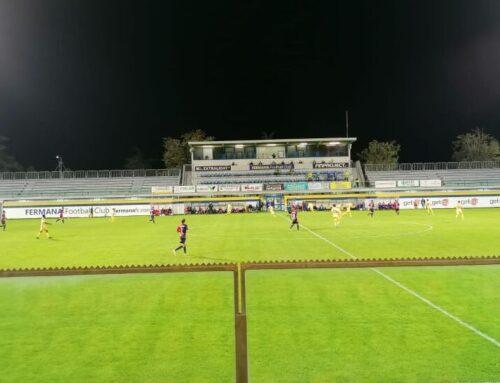Serie C: Fermana-Gubbio 2-1. Doppietta di Neglia dopo il gol di Miguel Angel. Rossoblu in 10 uomini