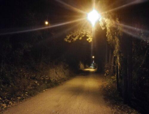 Di nuovo illuminata la strada che sale al Monastero di San Girolamo. Riqualificate le stazioni delle Via Crucis
