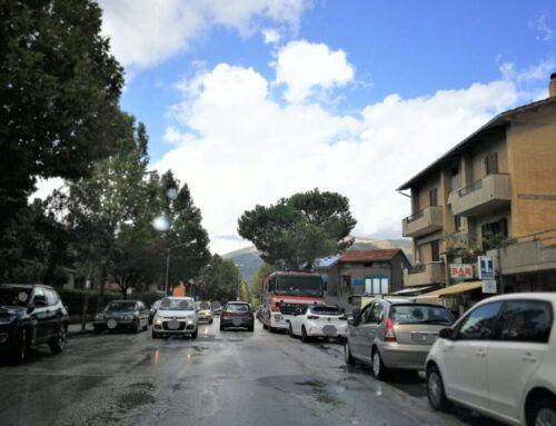 Maltempo a Gubbio. Allagamenti momentanei in Via Leonardo da Vinci e Via di Porta Romana